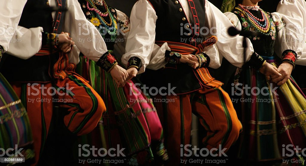 Folk dance, festival. stock photo