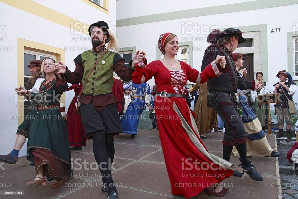 Folk dance stock photo