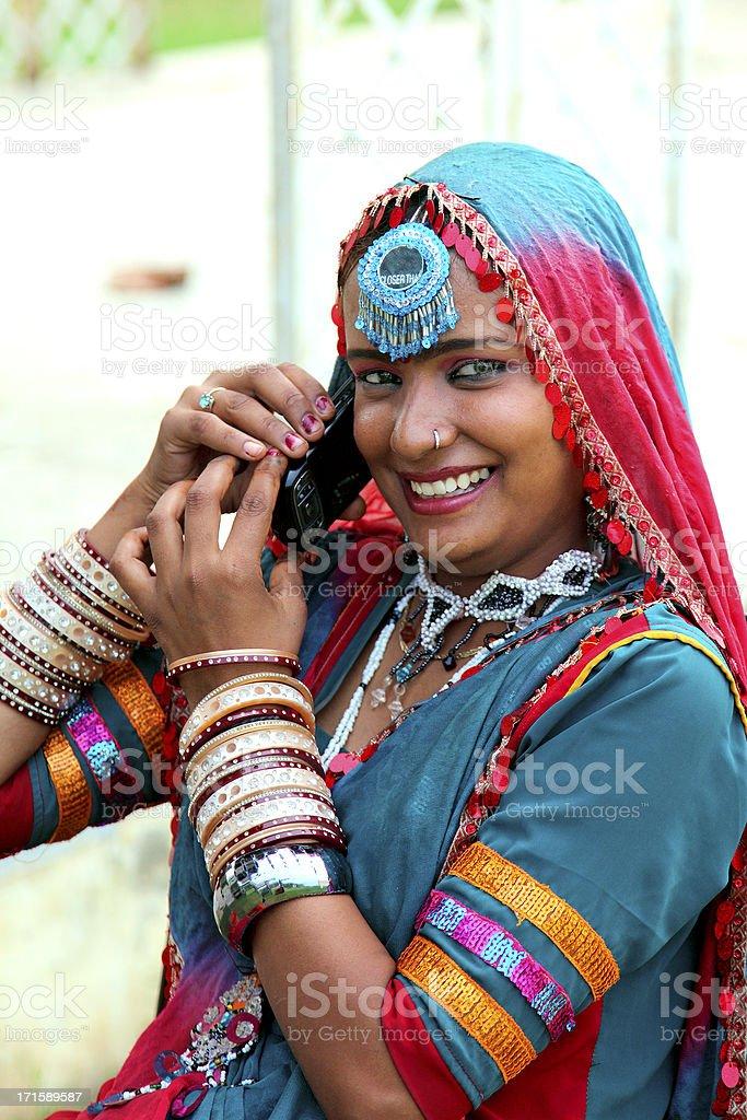 Folk dancer stock photo