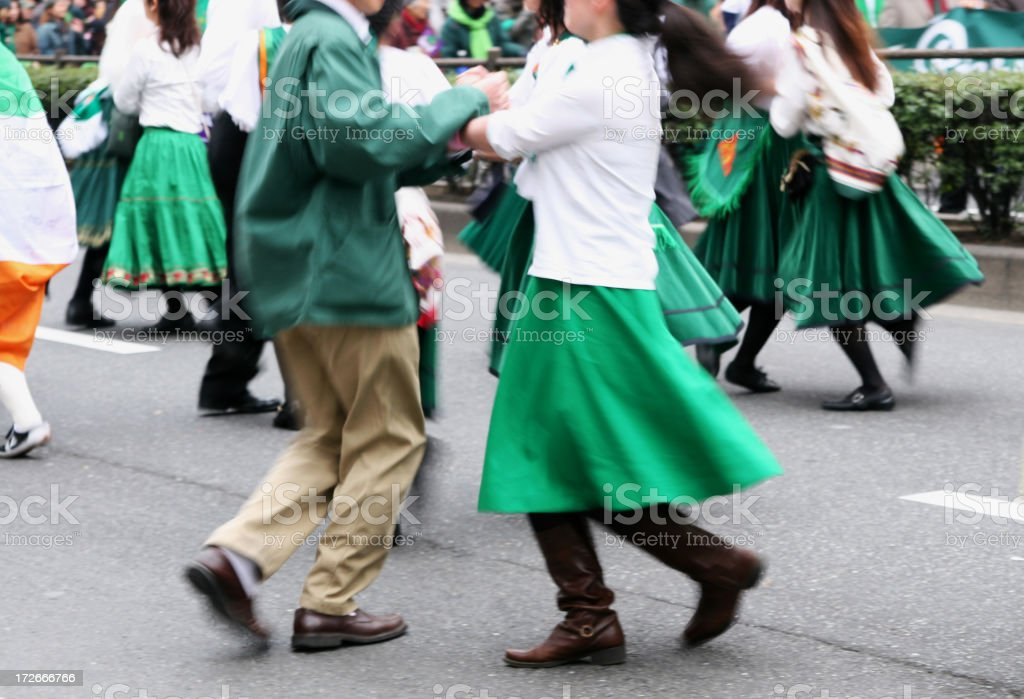 folk dancing royalty-free stock photo