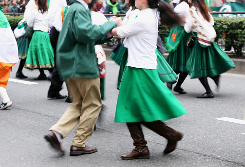 dance performance during a parade