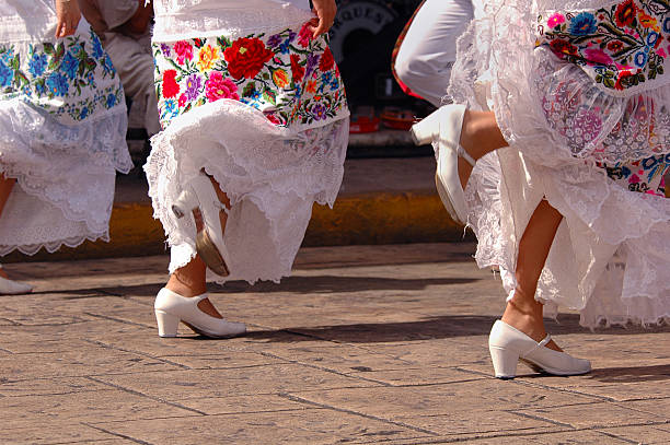 Folklore Dancers in Mexico stock photo