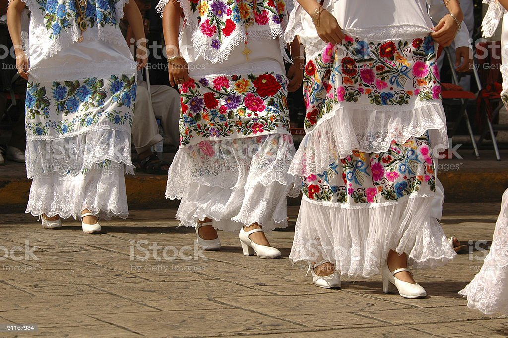 Folklore dancers stock photo
