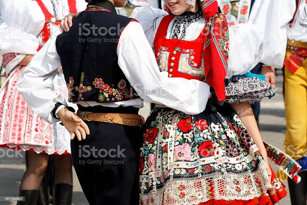 Folklore festival stock photo