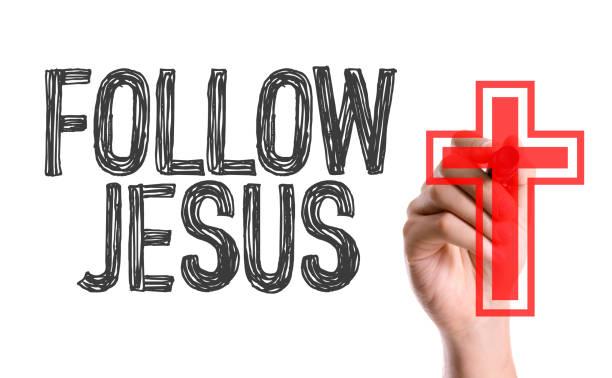 jesus nachfolgen - danke zitate stock-fotos und bilder