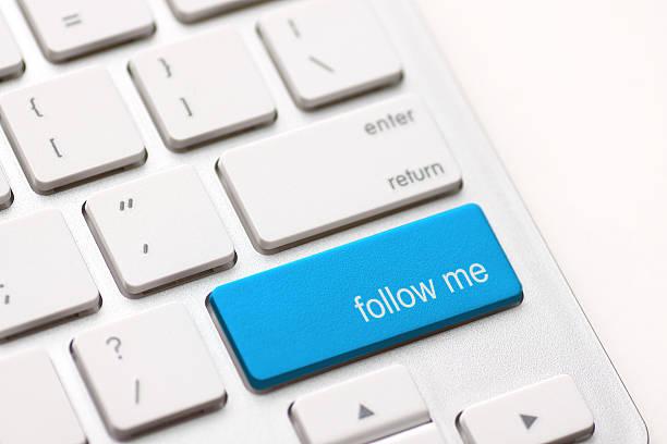 """follow me"" key - scyther5 stock-fotos und bilder"