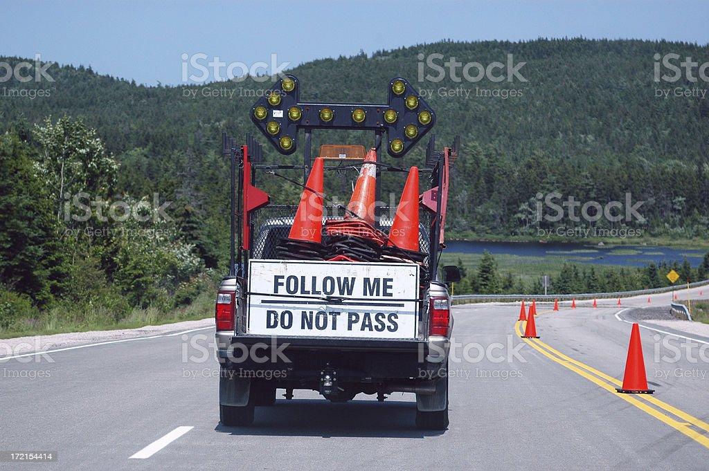 Follow Me - DO NOT PASS royalty-free stock photo