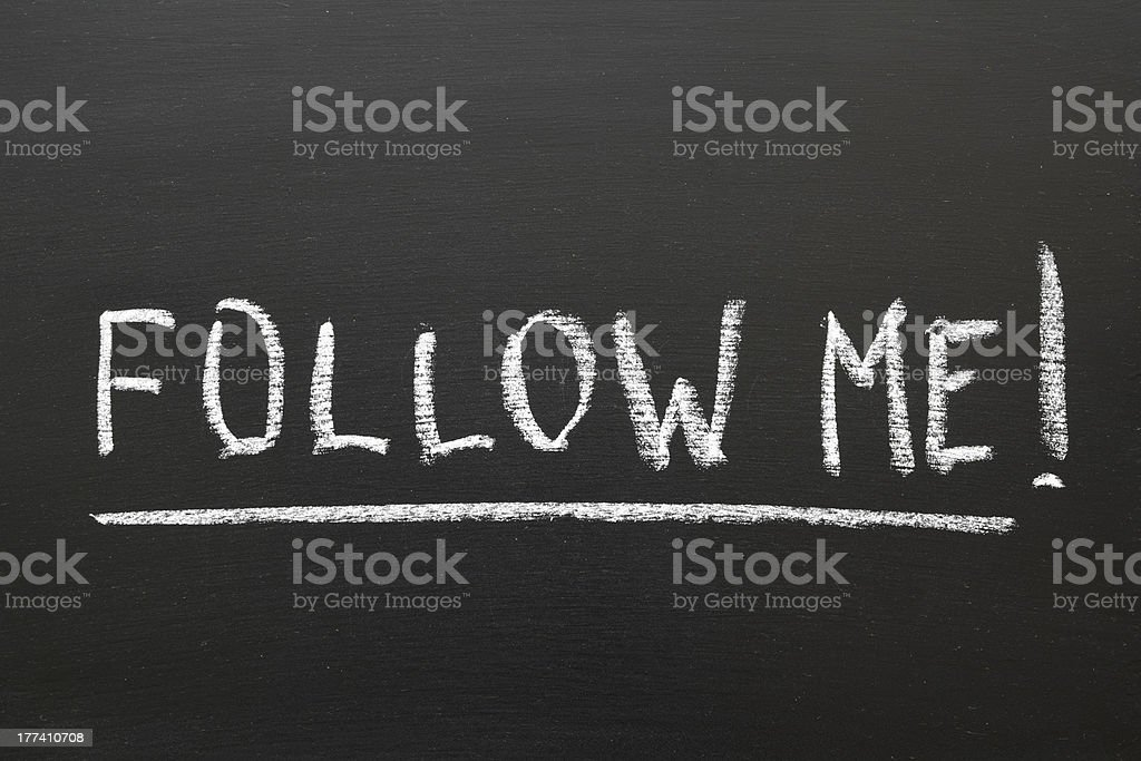 follow me royalty-free stock photo