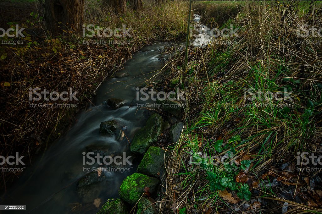 Follow River stock photo