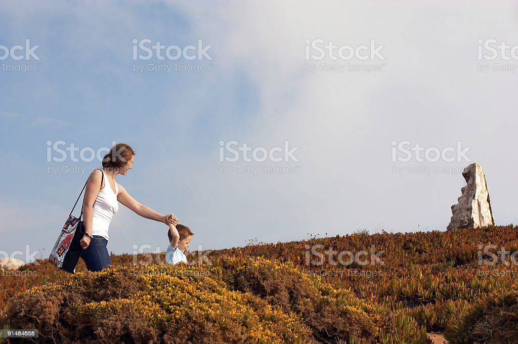 Follow the guide royalty-free stock photo
