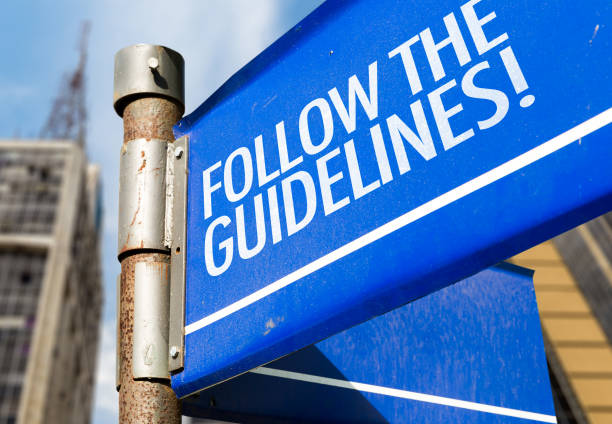 Follow the Guidelines stock photo