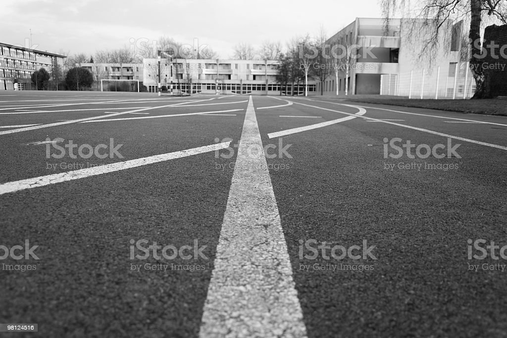 Follow the line royalty-free stock photo