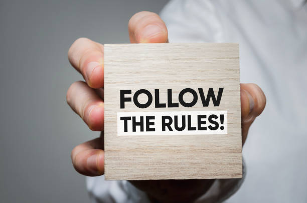 Follow the rules! stock photo