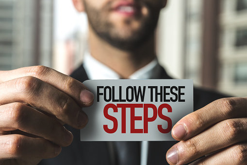 Follow These Steps Stock Photo - Download Image Now