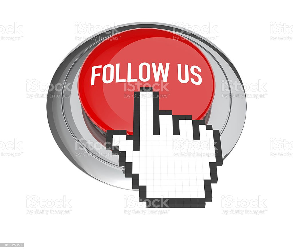 Follow Us Button royalty-free stock photo