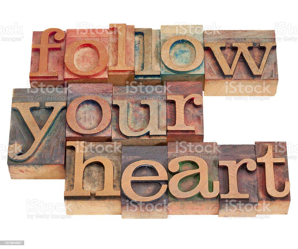 follow your heart royalty-free stock photo