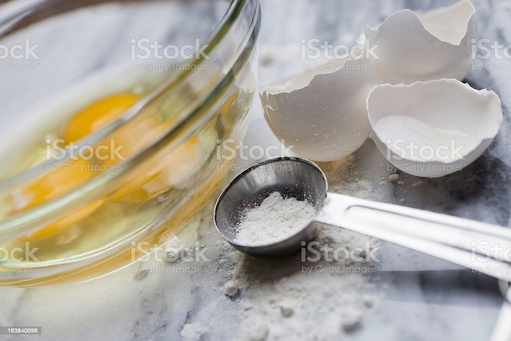 Following a Recipe royalty-free stock photo