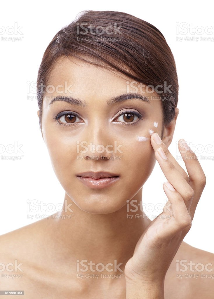 Following a strict skincare routine royalty-free stock photo