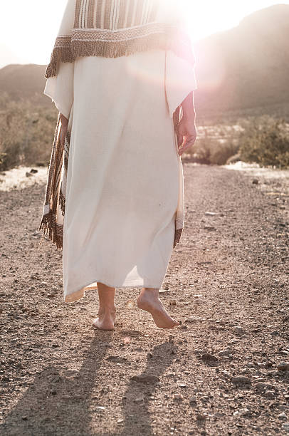 Following Jesus stock photo