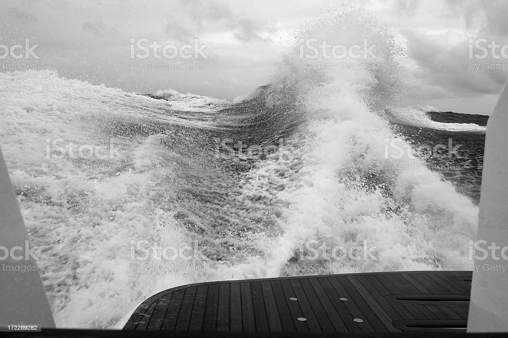 Following Sea - Getting Rough stock photo