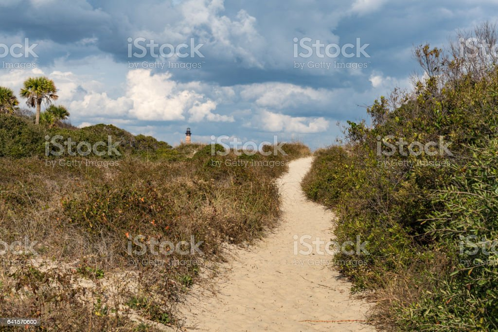Folly Beach stock photo
