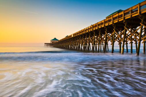 istock Folly Beach Pier Charleston SC Coast Atlantic Ocean Pastel Sunrise 177393353