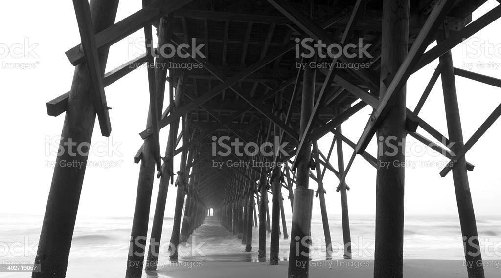 Folly Beach Pier stock photo