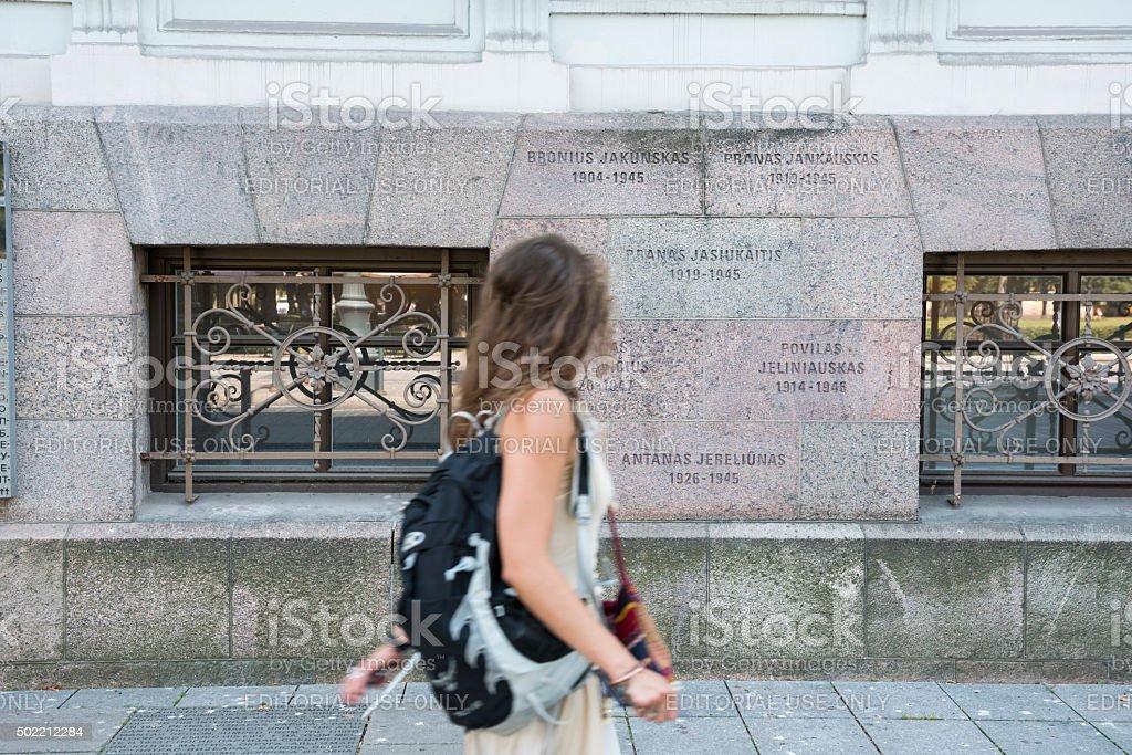 Fomer KGB building in Vilnius, Lithuania stock photo