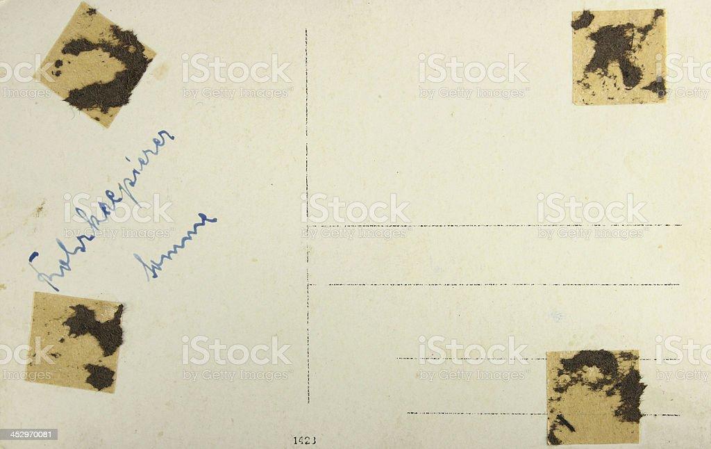 Fond - ancienne carte postale ww1 stock photo