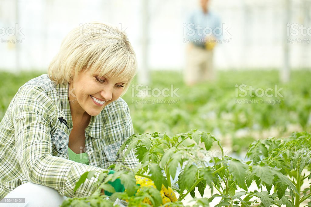 Fond of gardening royalty-free stock photo