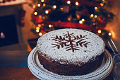Fondant Christmas Cake with Dried Fruits and Nuts