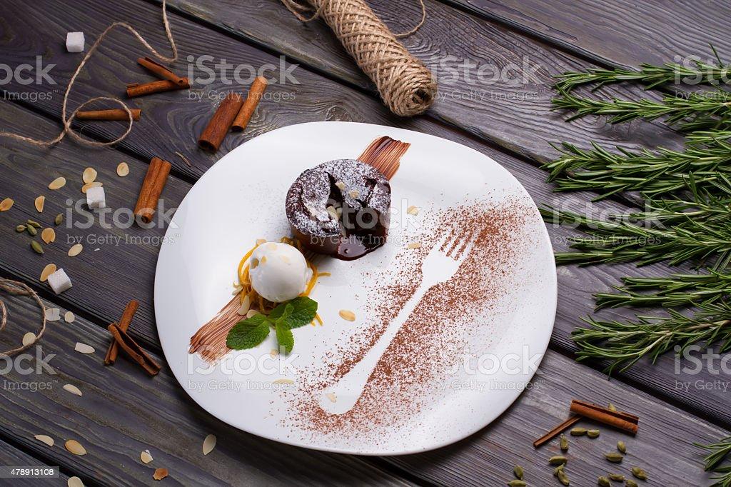 Fondant dessert. stock photo