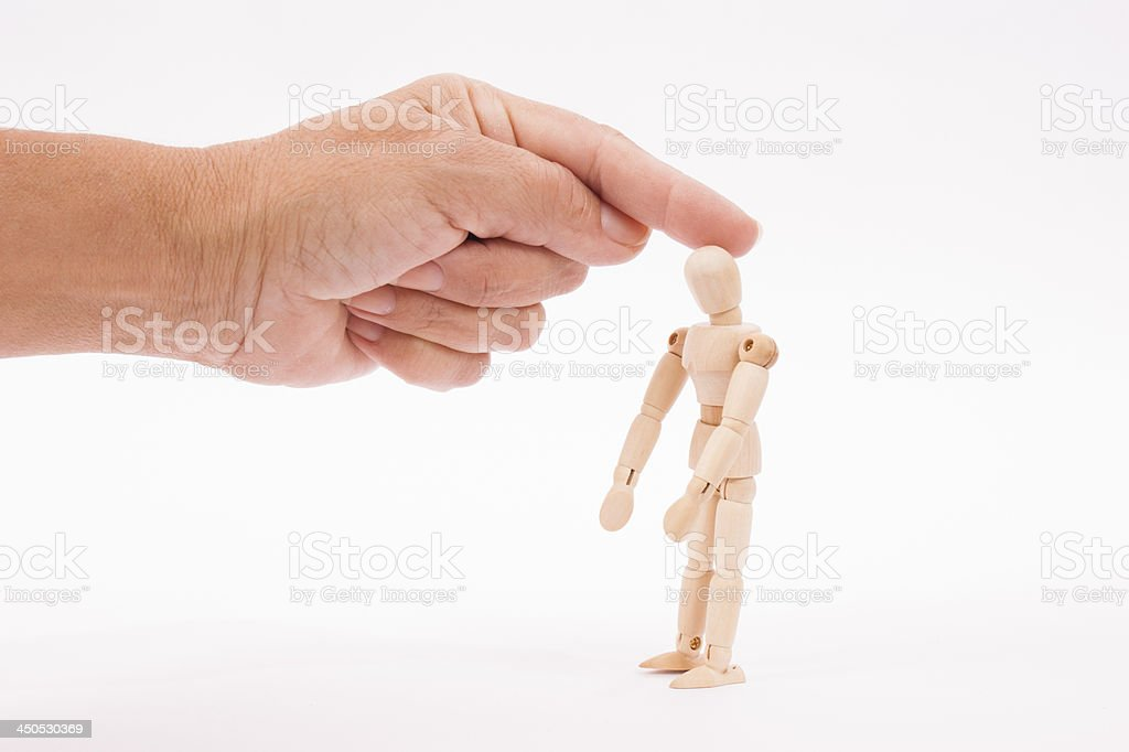 fondle with finger the head royalty-free stock photo