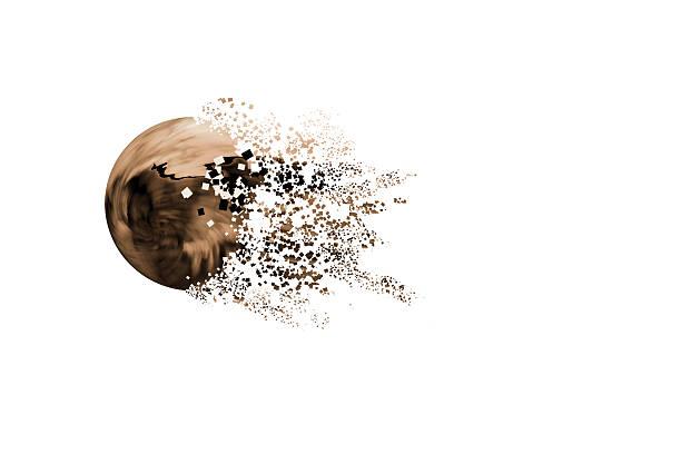 fondo abstracto de esfera 3d marrón stock photo