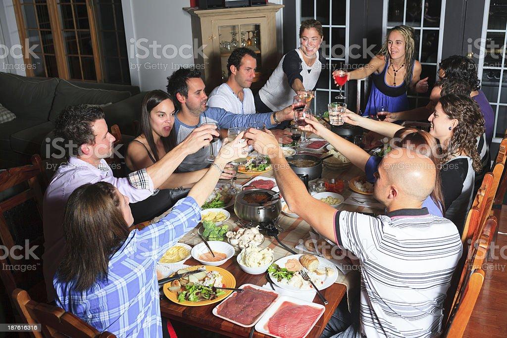 Fondue Dinner - Great Social royalty-free stock photo