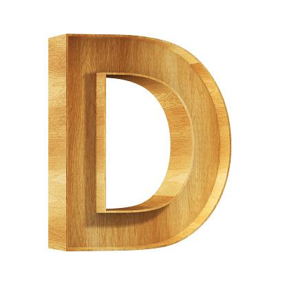 Font Alfabeto D 3D Render