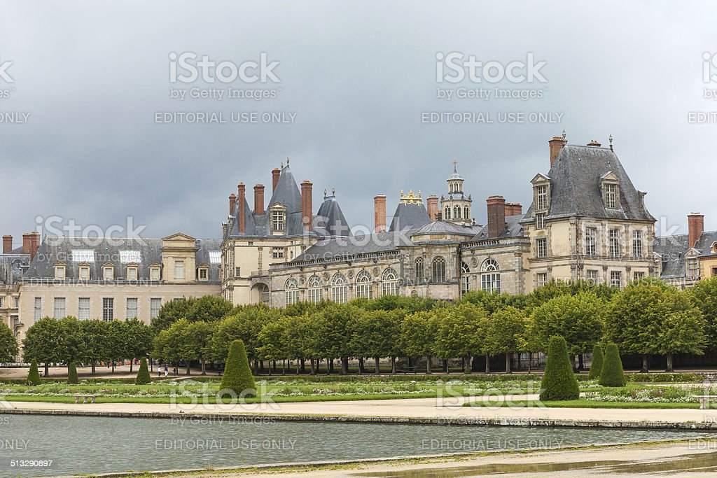 Fontainbleau castle stock photo