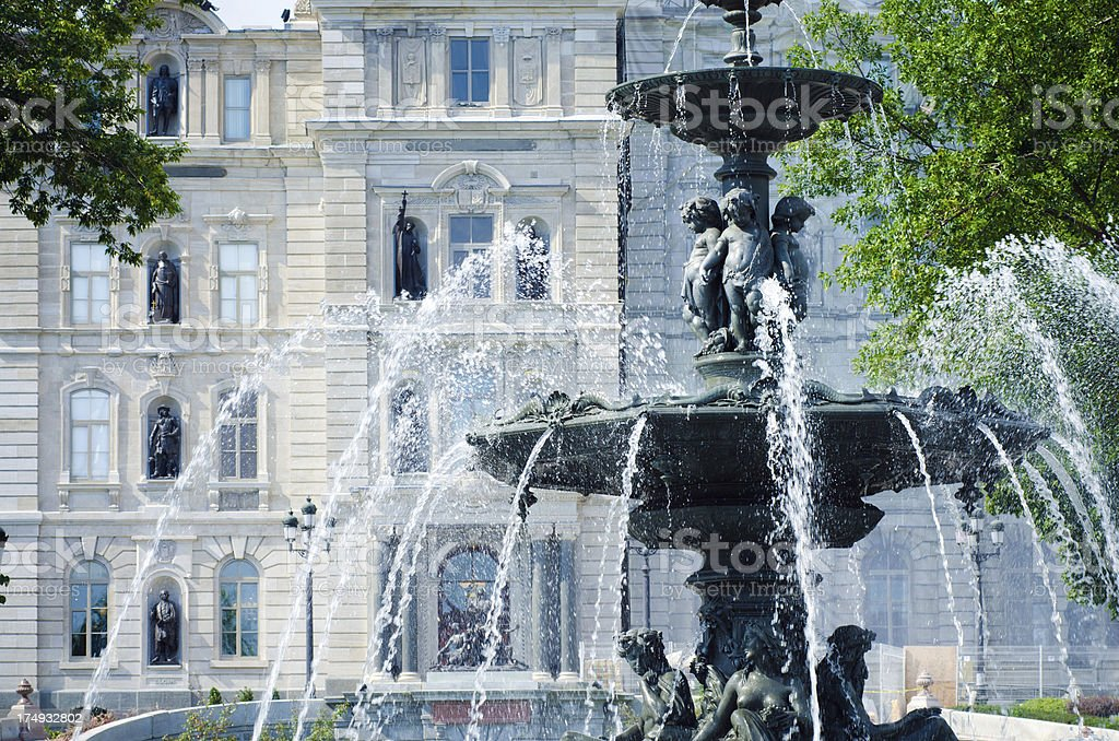Fontaine de Tourny in Quebec City, Canada royalty-free stock photo