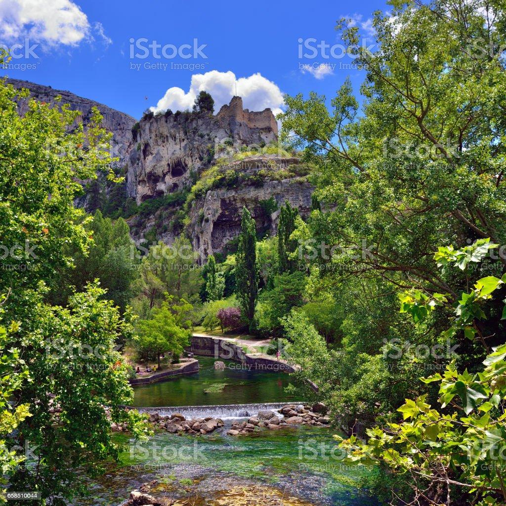 Fontaine de Vaucluse stock photo