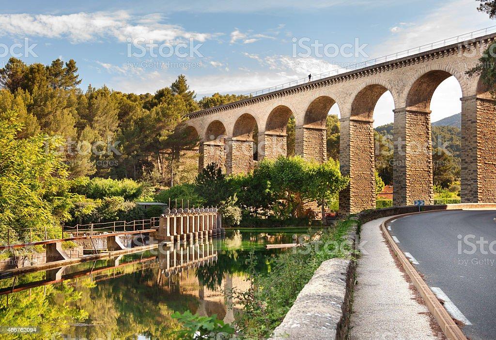 Fontaine de Vaucluse, Provence, France stock photo
