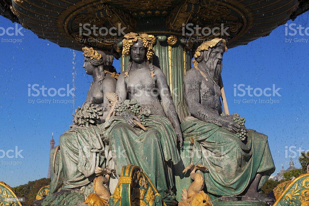 Fontaine des Fleuves, Concorde square, Paris royalty-free stock photo