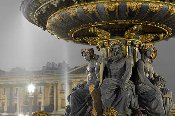 Fontaine des Fleuves, la place de la Concorde, à Paris - Photo