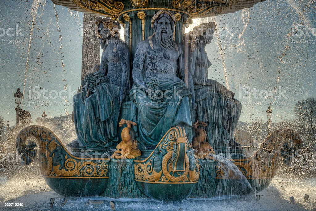 Fontaine des fleuves royalty-free stock photo