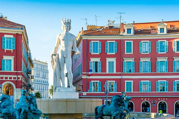 Fontaine du Soleil, Nice, France stock photo