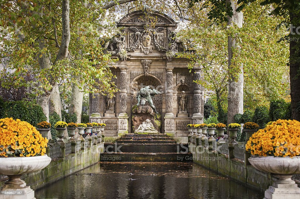 Fontaine Medicis, Paris stock photo