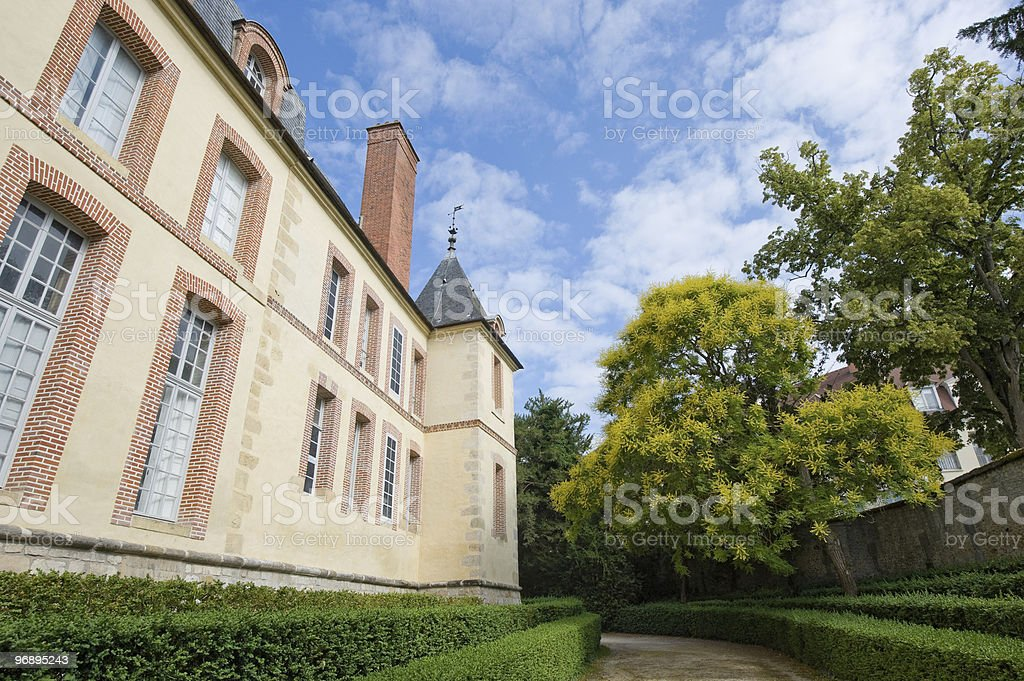 Fontainebleau (France) - Castle and park stock photo