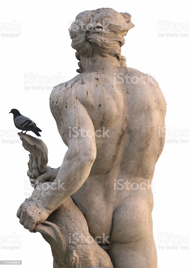 Fontana del Moro en Piazza Navona foto de stock libre de derechos