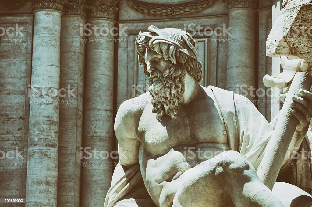 Fontana del Pantheon in Rome, Italy stock photo