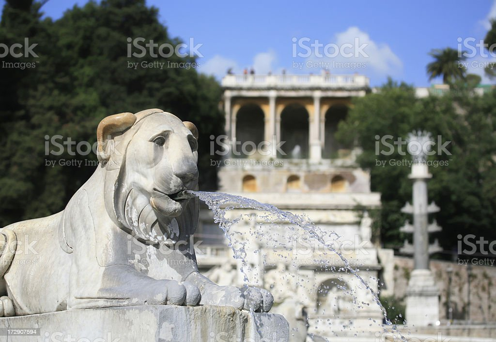 Fontana dell' Obelisco and Monte Pincio royalty-free stock photo