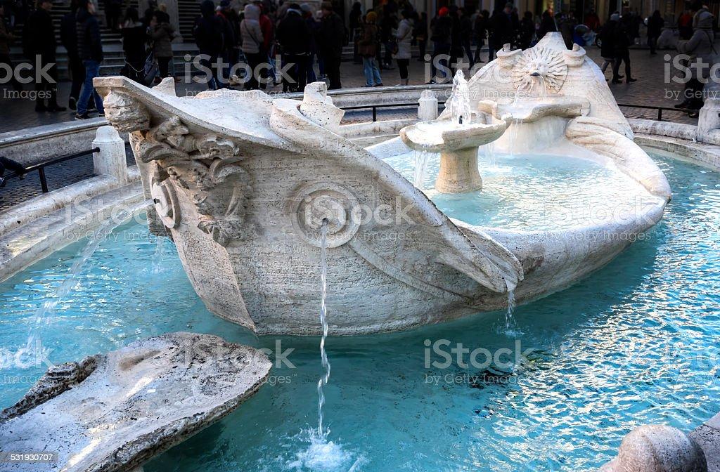 Fontana della Barcaccia stock photo